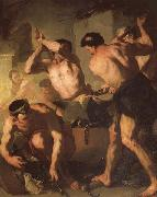 Luca Giordano Vulcan's Forge oil painting reproduction